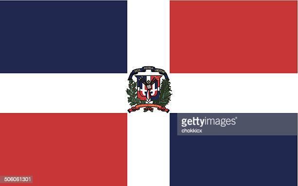 dominican republic - dominican republic flag stock illustrations