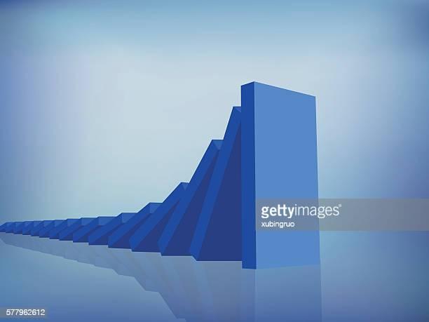 domino effect - domino effect stock illustrations