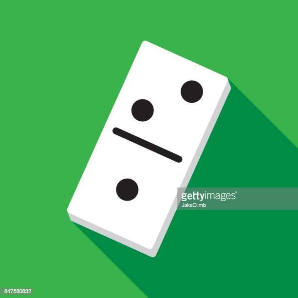 domino icon flat - domino effect stock illustrations