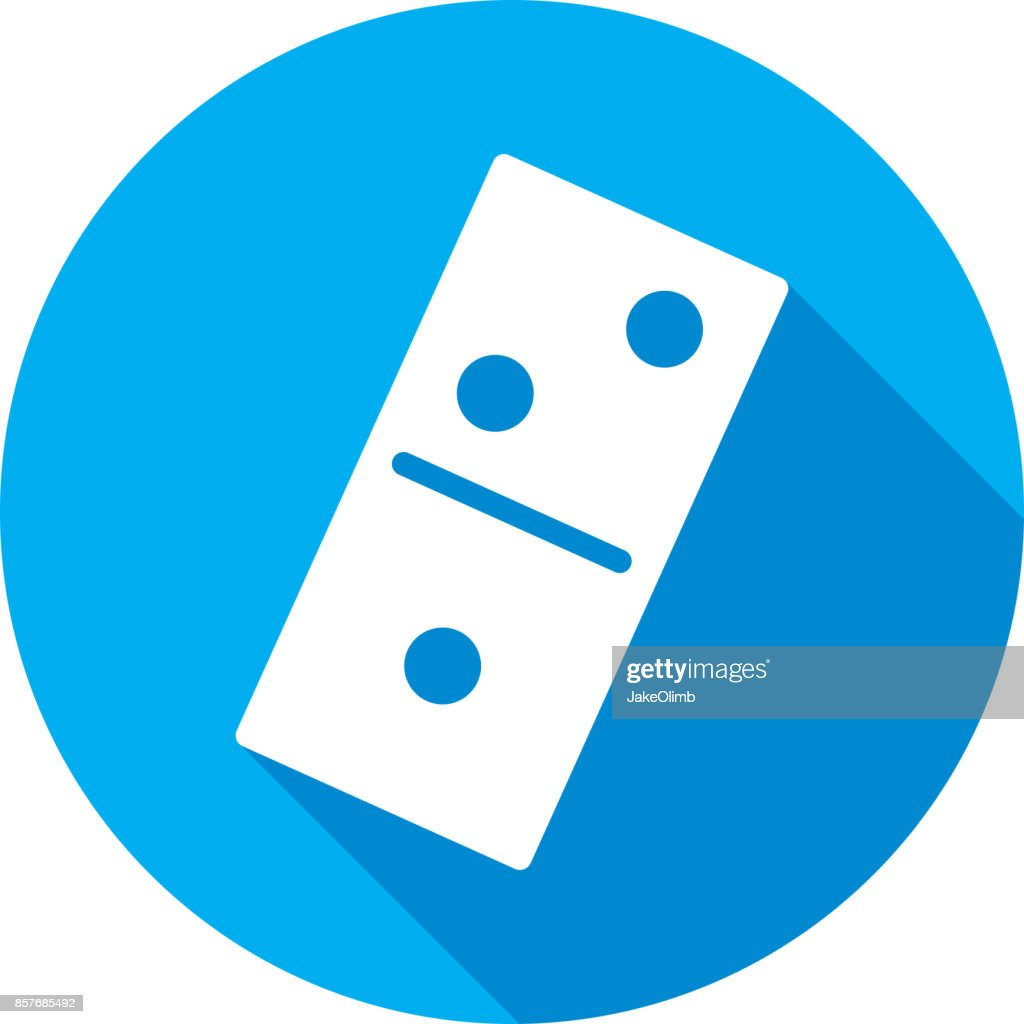 domino icon silhouette vector art getty images