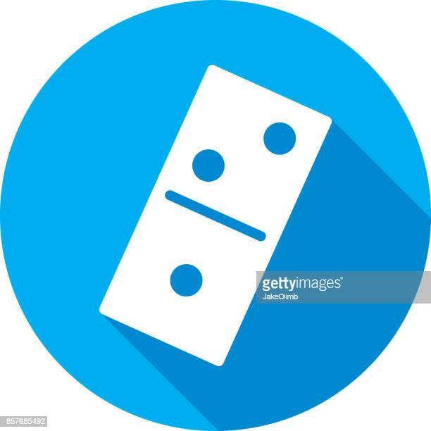 domino icon silhouette - domino effect stock illustrations