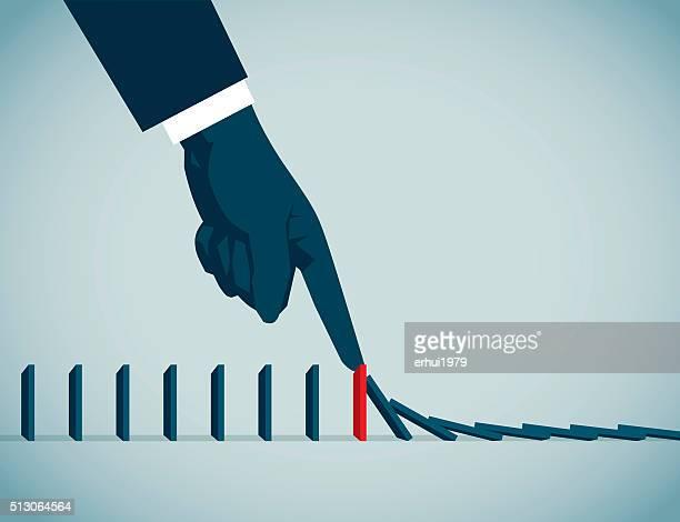 domino - domino effect stock illustrations