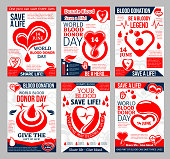 Donate Blood poster for World Donor Day design