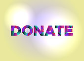 Donate Concept Colorful Word Art Illustration