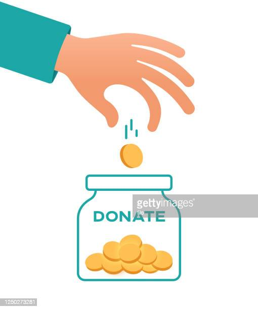 illustrazioni stock, clip art, cartoni animati e icone di tendenza di donare - donazione