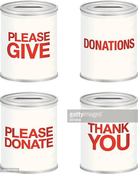Ensemble de canettes de don