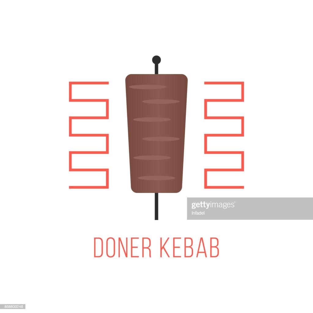 doner kebab isolated on white background