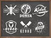Doner kebab logos.