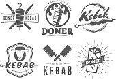 Doner kebab symbols.