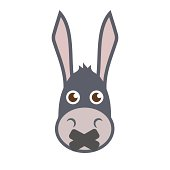 Donkey Head With Mouth Sealed.
