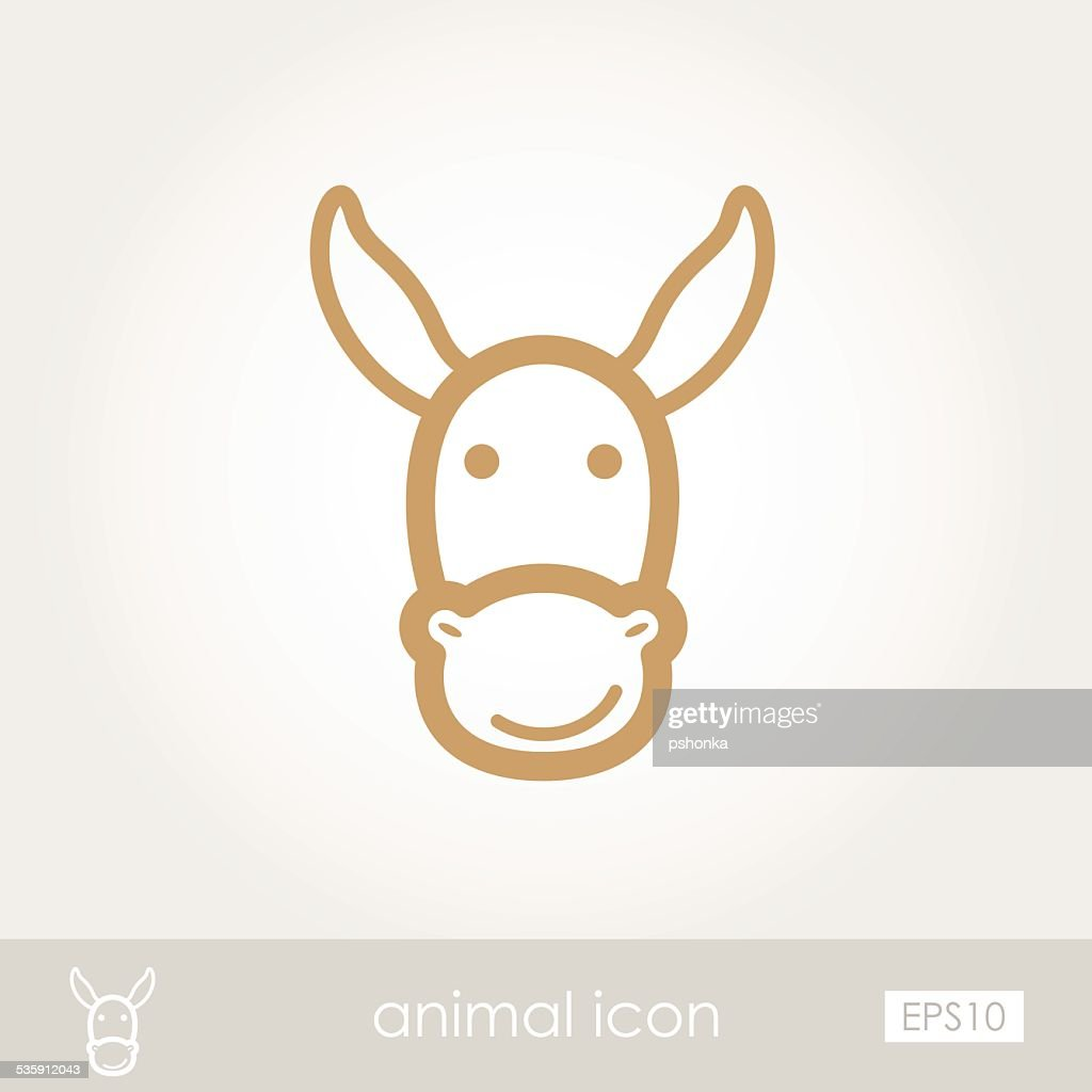 Donkey icon : Vector Art