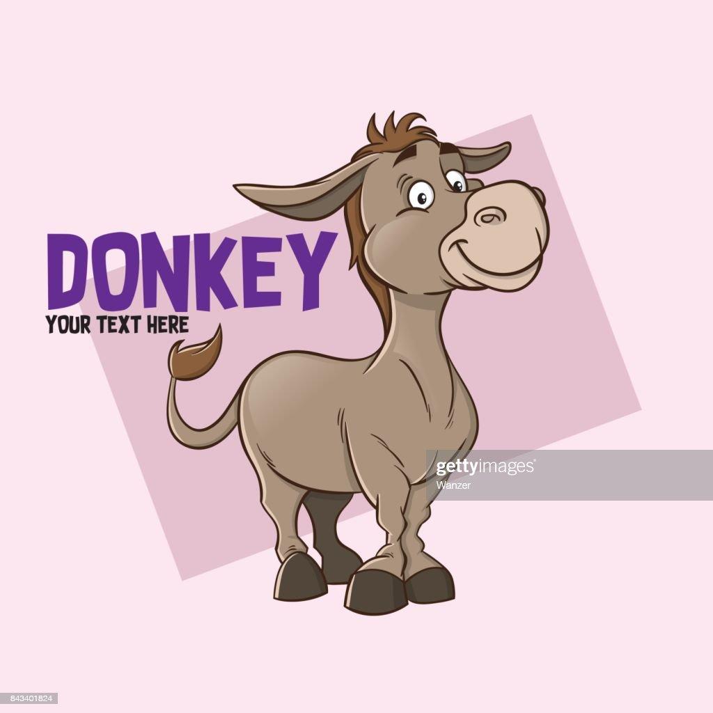 Donkey illustration character