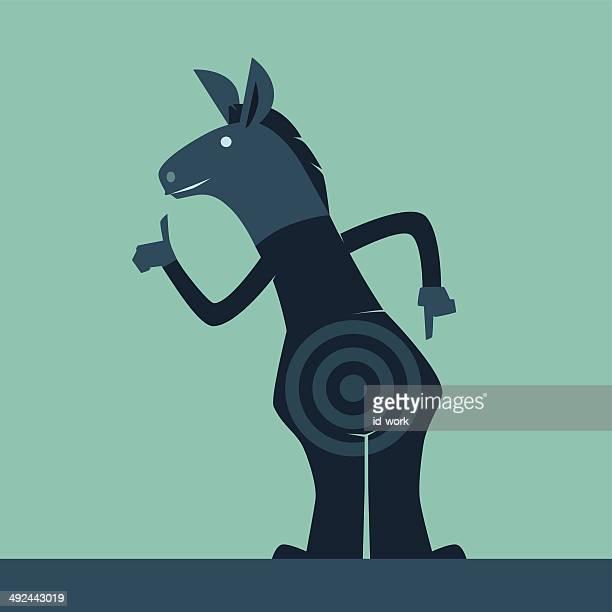 donkey showing