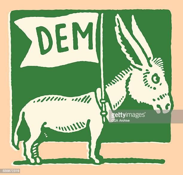 dem donkey - donkey stock illustrations, clip art, cartoons, & icons