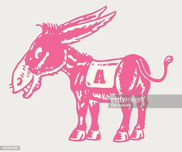 donkey with a blanket - donkey stock illustrations, clip art, cartoons, & icons