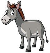 Donkey with happy face