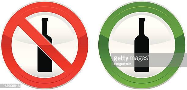 """ilustrações, clipart, desenhos animados e ícones de """"não drink','its allowed'"""" - bebida"""