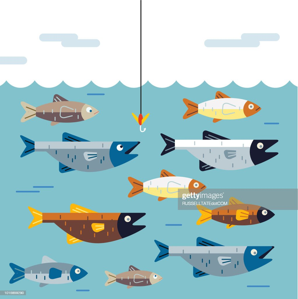 Dont get hooked : stock illustration