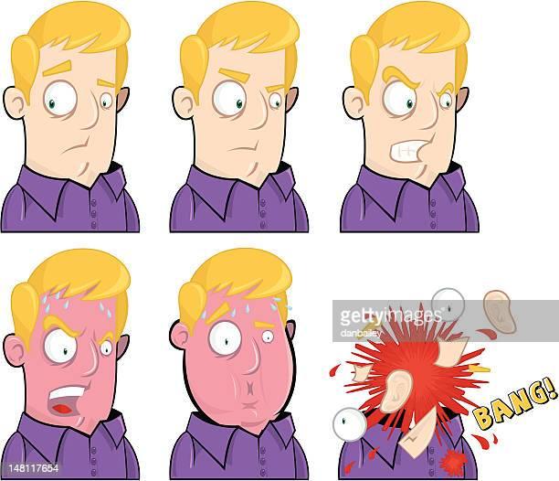 ilustraciones, imágenes clip art, dibujos animados e iconos de stock de no me hacen enojado - tirarse de los pelos