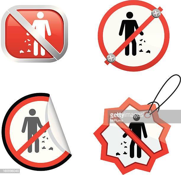 ilustraciones, imágenes clip art, dibujos animados e iconos de stock de no arrojar poner verde - tirar basura
