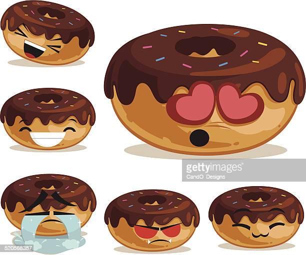 Donut Cartoon Set B