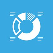 Donut Chart icon on a blue background. - Smooth Series