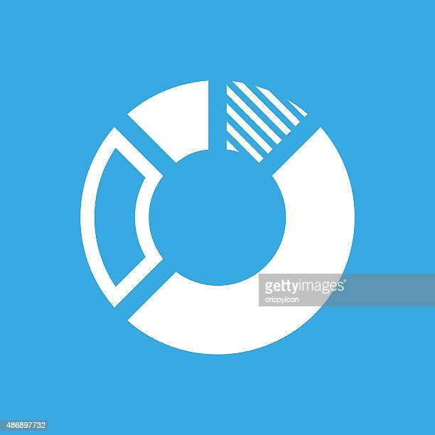 Donut Chart icon on a blue background.