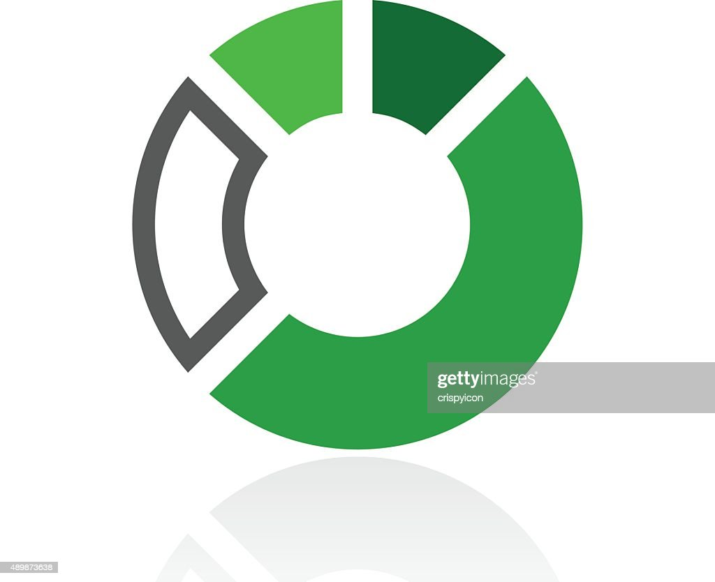 Donut Chart icon on a white background. - Fresh Series