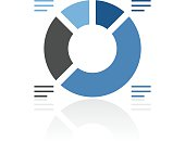 Donut Chart icon on a white background. - RoyalSeries