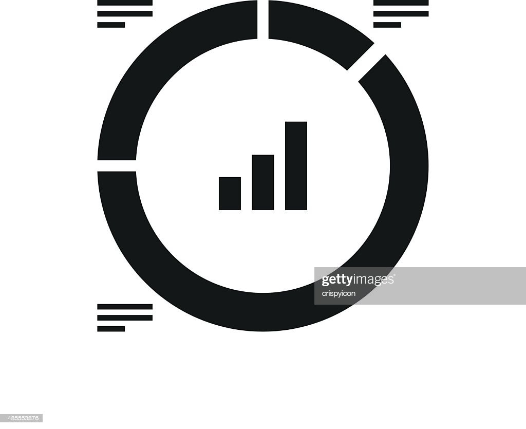 Donut Chart icon on a white background.