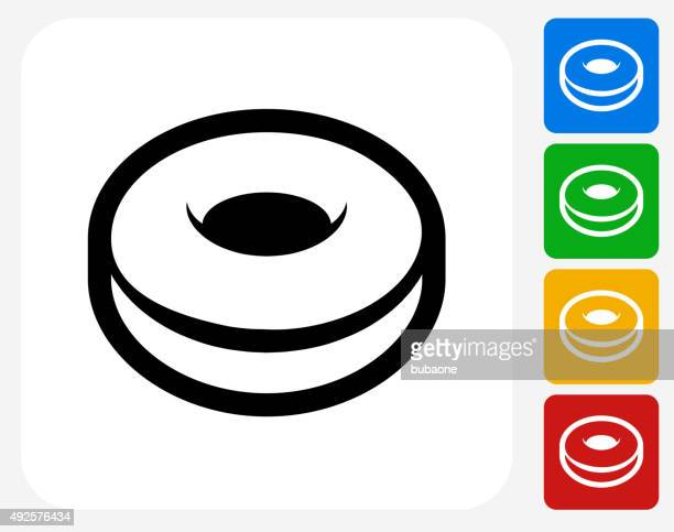 donut icon flat graphic design - donut stock illustrations, clip art, cartoons, & icons