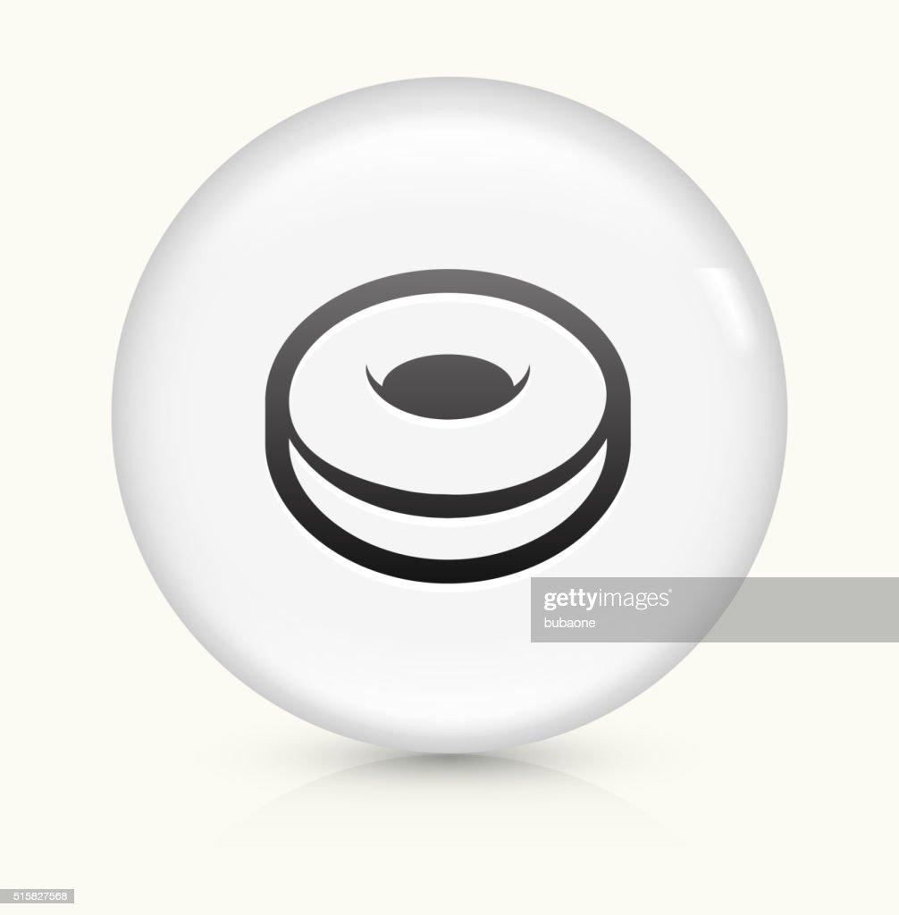 Donut icon on white round vector button : stock illustration