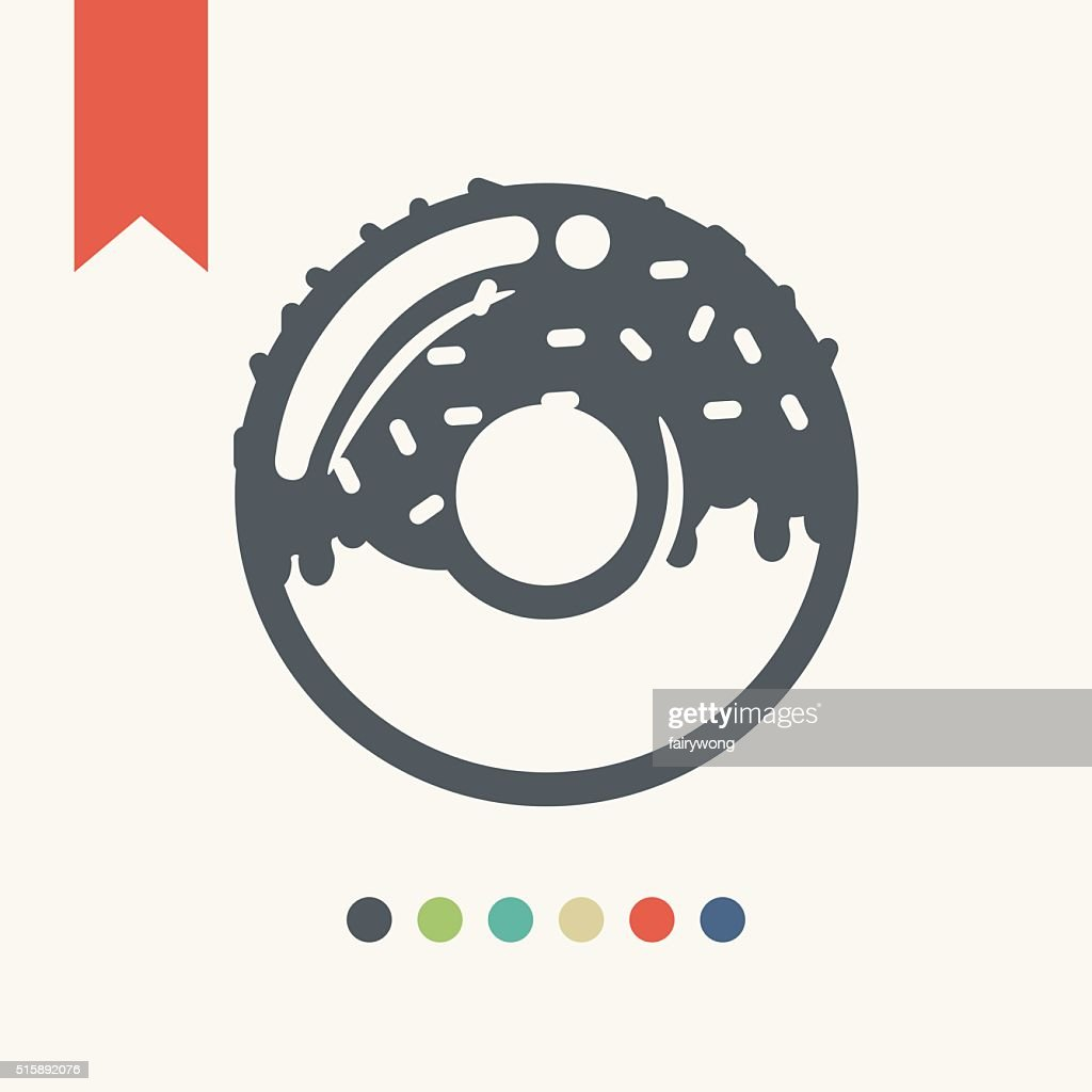 Icono de buñuelo en forma de rosca : Ilustración de stock