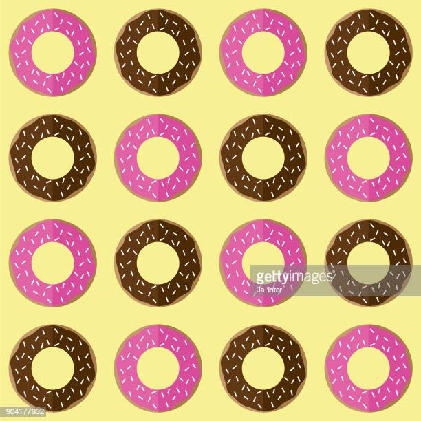 donut pattern background - dessert topping stock illustrations, clip art, cartoons, & icons