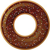 Donut with sprinkles vector