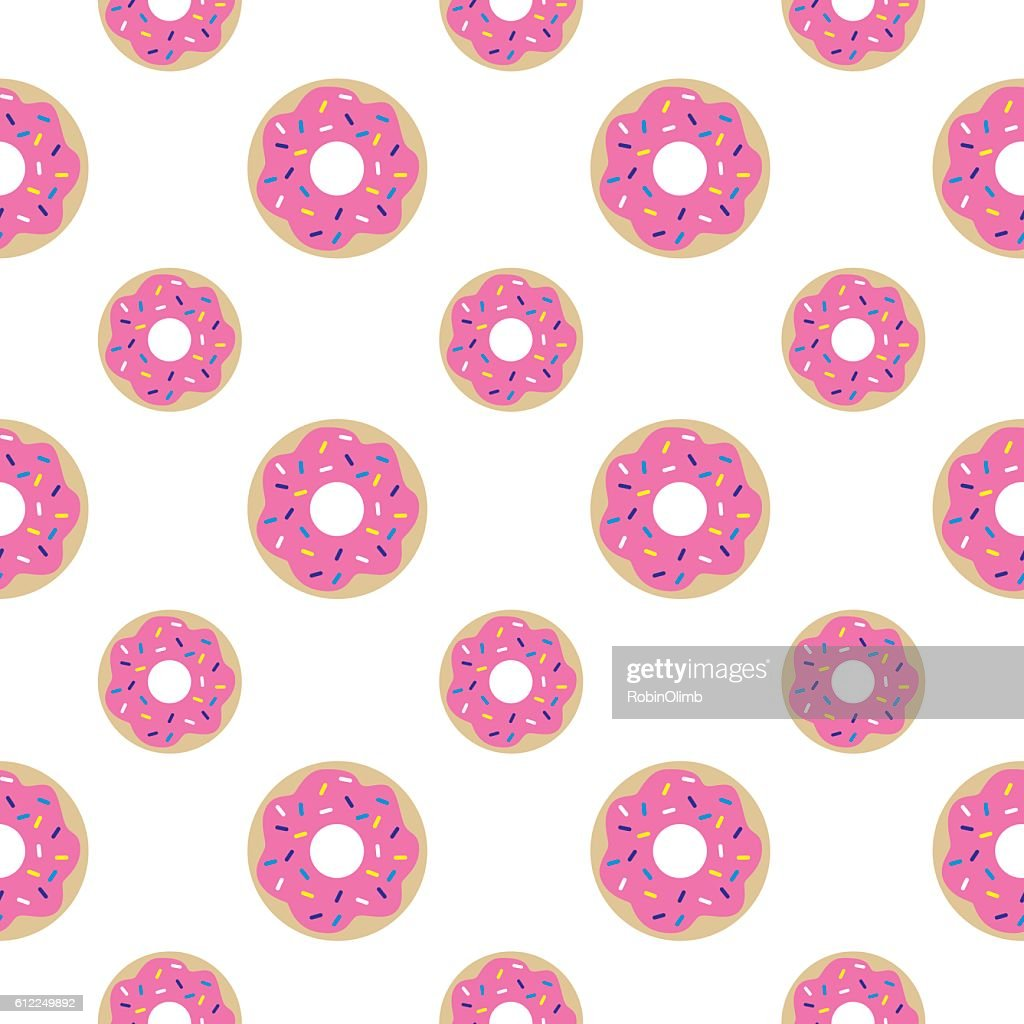 Donuts Seamless Pattern : stock illustration