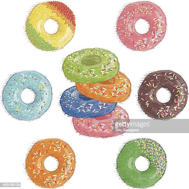 donuts - dessert topping stock illustrations, clip art, cartoons, & icons