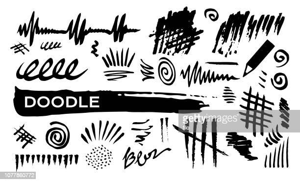 doodle abstract lines - crossed out stock illustrations