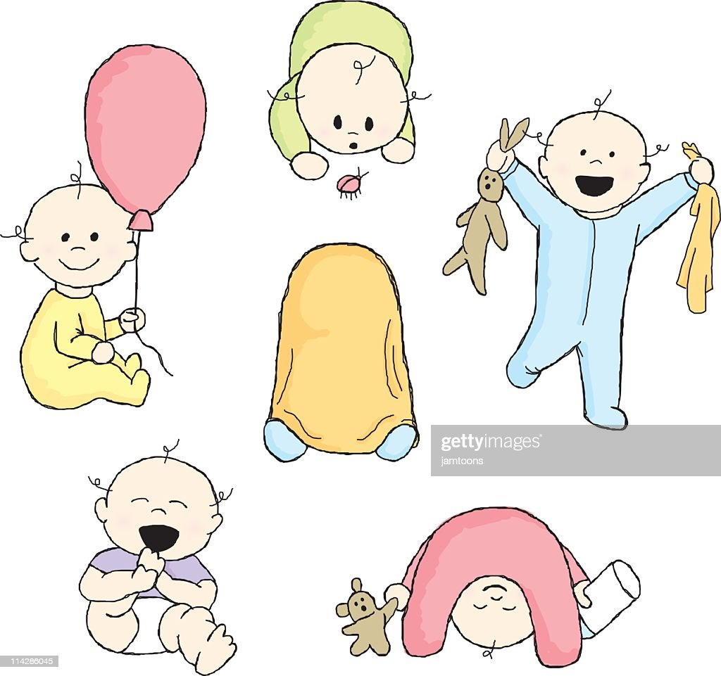 Doodle Babies : stock illustration