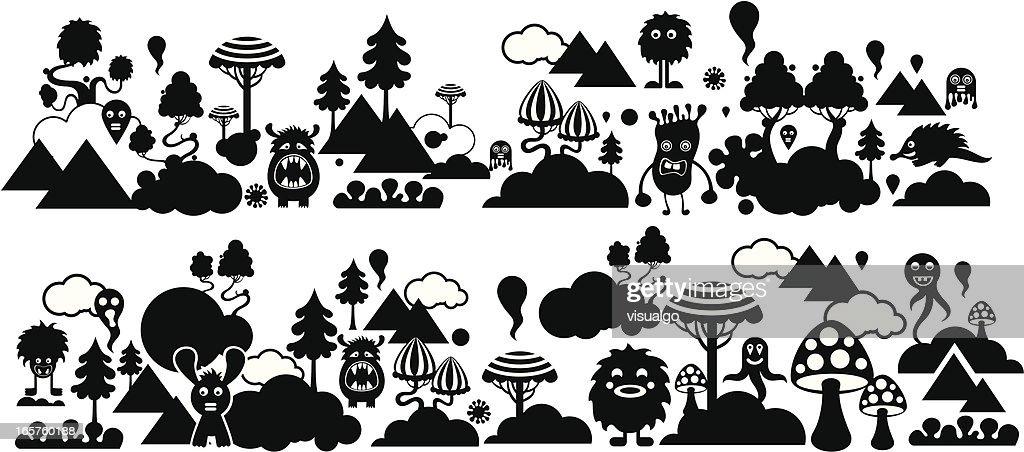 doodle background : stock illustration