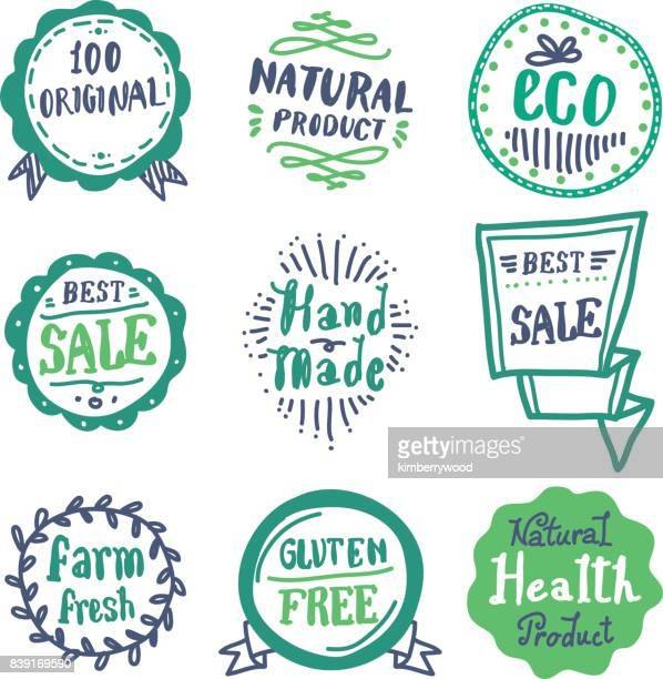 doodle badge - label stock illustrations