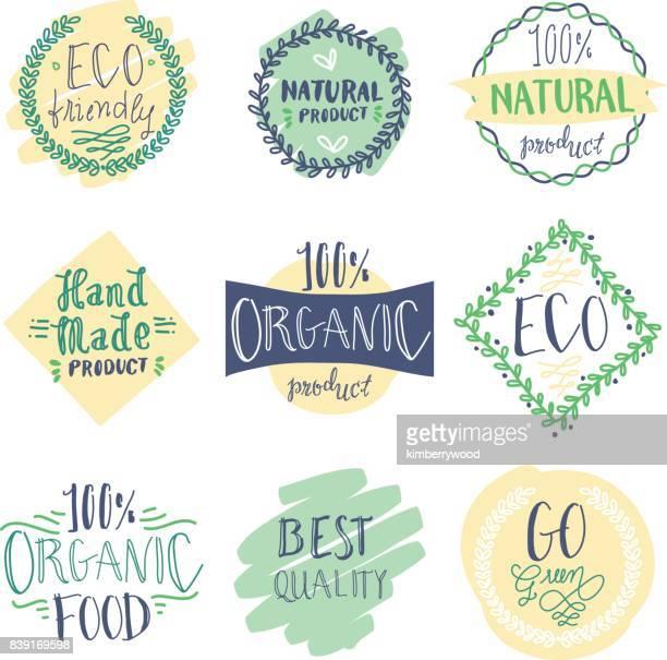 ilustraciones, imágenes clip art, dibujos animados e iconos de stock de insignia de doodle - los cuatro elementos