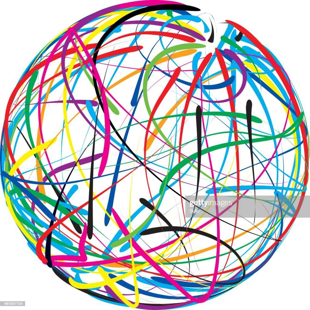 Doodle Ball Cutout