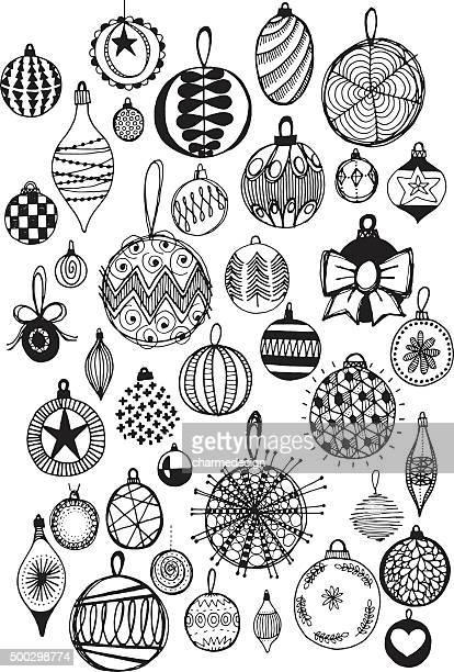 doodle baubles - embellishment stock illustrations