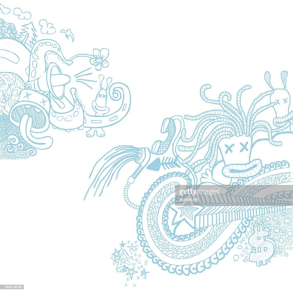 Doodle Blue
