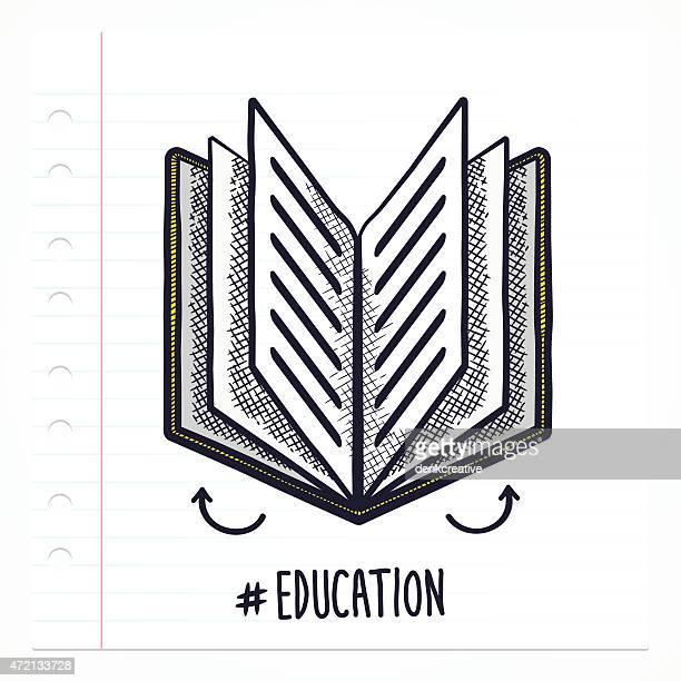 ilustrações, clipart, desenhos animados e ícones de doodle ícone de livro - enciclopédia