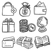Doodle Business Icon Set 1- Vector Hand drawn