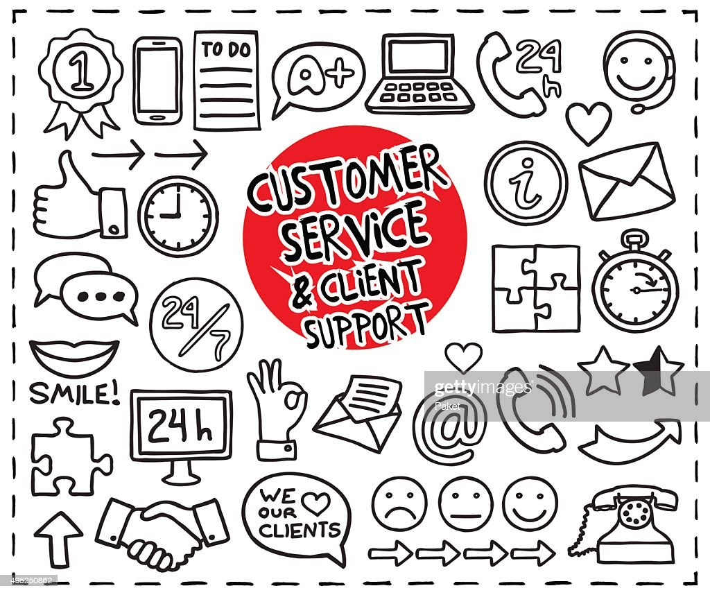 Doodle Customer Service icons