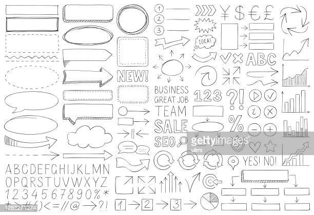 doodle-designelemente - rechteck stock-grafiken, -clipart, -cartoons und -symbole