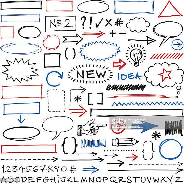 doodle design elements - exclamation mark stock illustrations